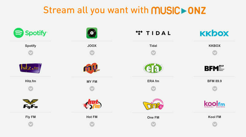 U Mobile Music-Onz gives you unlimited music streaming on