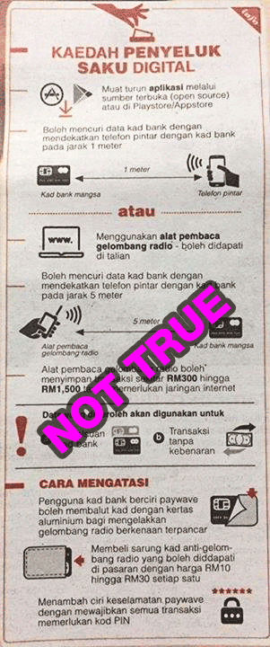 BNM debunks myth about electronic pick-pocketing