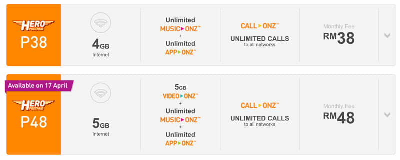 Unlimited calls and data from MYR38/month with U Mobile Hero P38
