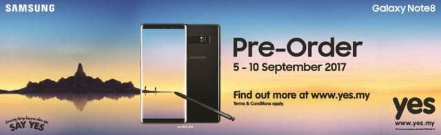Yes 4G Galaxy Note8 pre-order