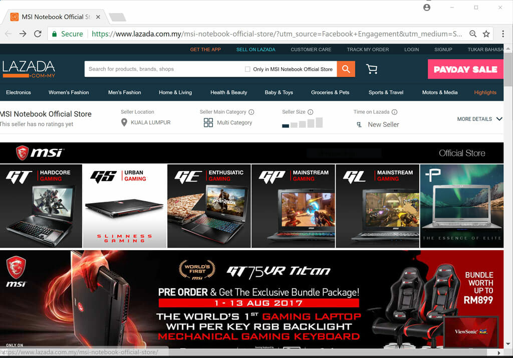 Astounding Msi Malaysia Launches Official Store On Lazada Spiritservingveterans Wood Chair Design Ideas Spiritservingveteransorg