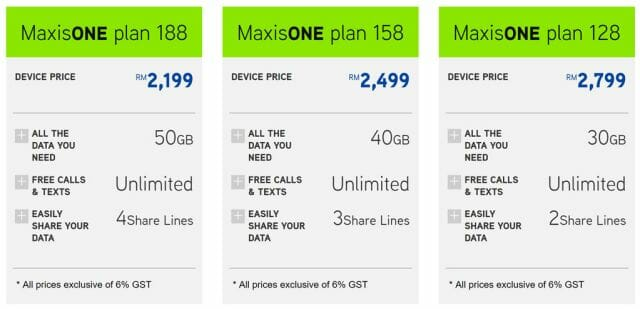 Maxis Galaxy Note8 contract