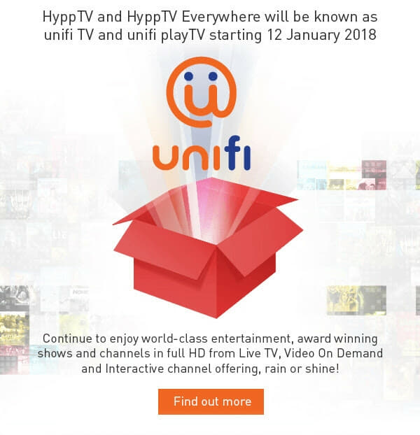 HyppTV is now unifi TV