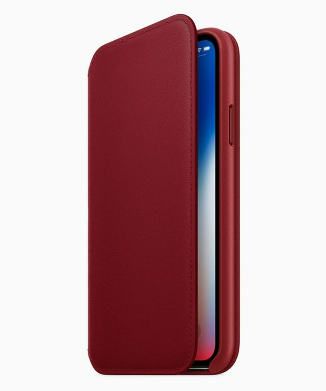 (PRODUCT)RED iPhone X Leather case