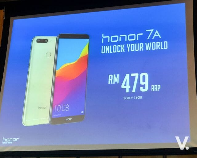 honor 7A launch