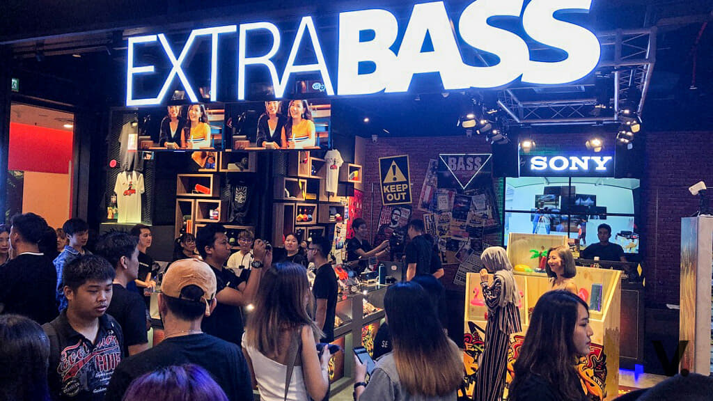 Sony's EXTRA BASS lifestyle store in Kuala Lumpur is first
