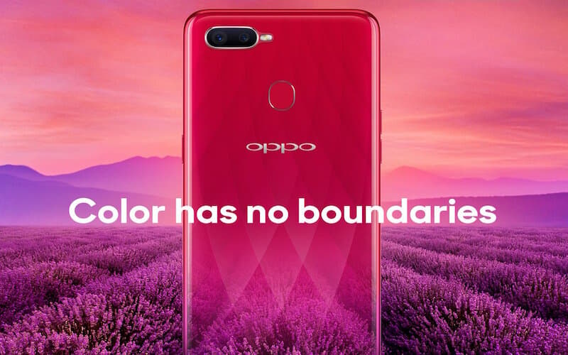 OPPO F9 will come in Sunrise Red gradient with diamond cuts