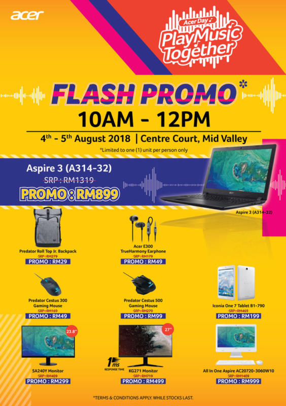 Acer Day 2018 Flash Promo