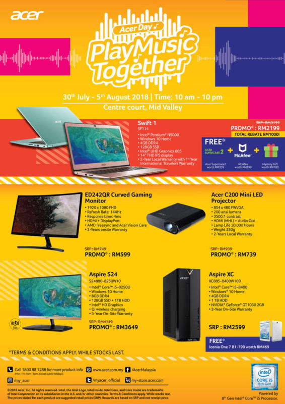 Acer Day 2018 deals