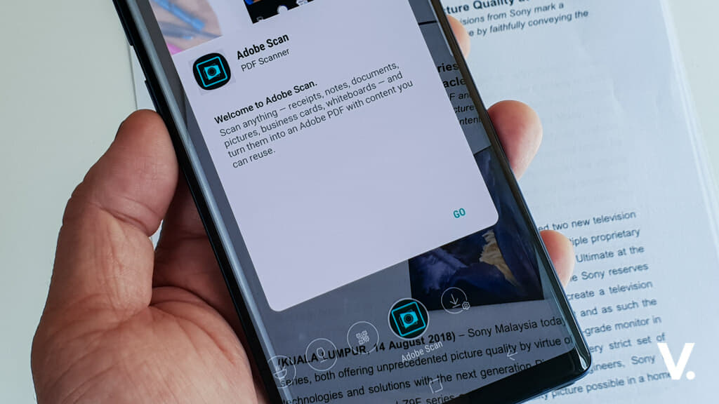 Scan documents instantly with Adobe Scan and Bixby Vision on