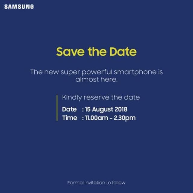 Galaxy Note9 Save the Date