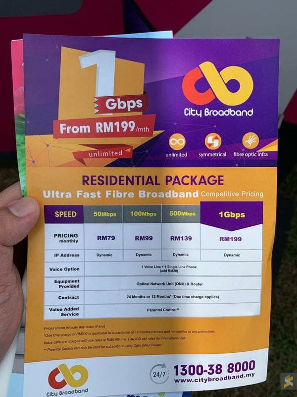 City Broadband packages