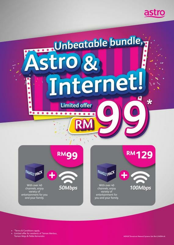 Astro IPTV-broadband bundle Jasin