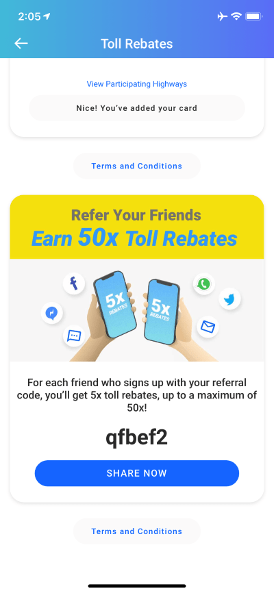 Touch n Go toll rebate promo