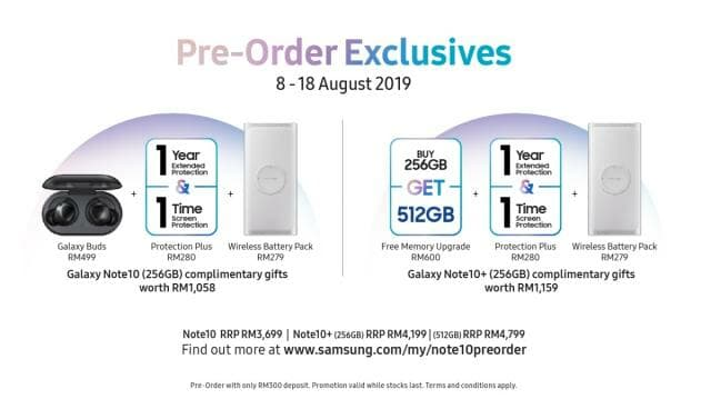 Samsung Galaxy Note10 pre-order offer