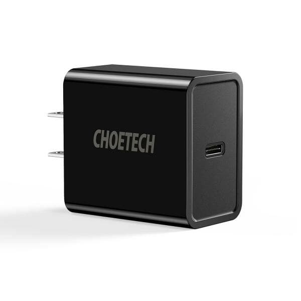 CHOETECH 18W Power Delivery Type-C Wall Charger + USB-C to Lightning Cable (MFi-certified)