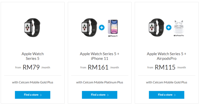 Apple Watch Series 5 Celcom EasyPhone bundles