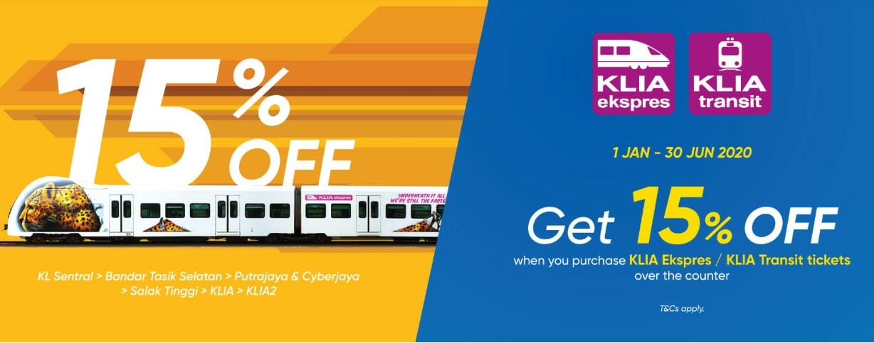 Get 15 Off When You Buy Klia Express Transit Tickets With Touch