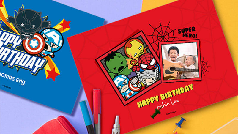 Photobook Marvel greeting cards