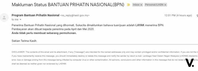 BPN LHDN email