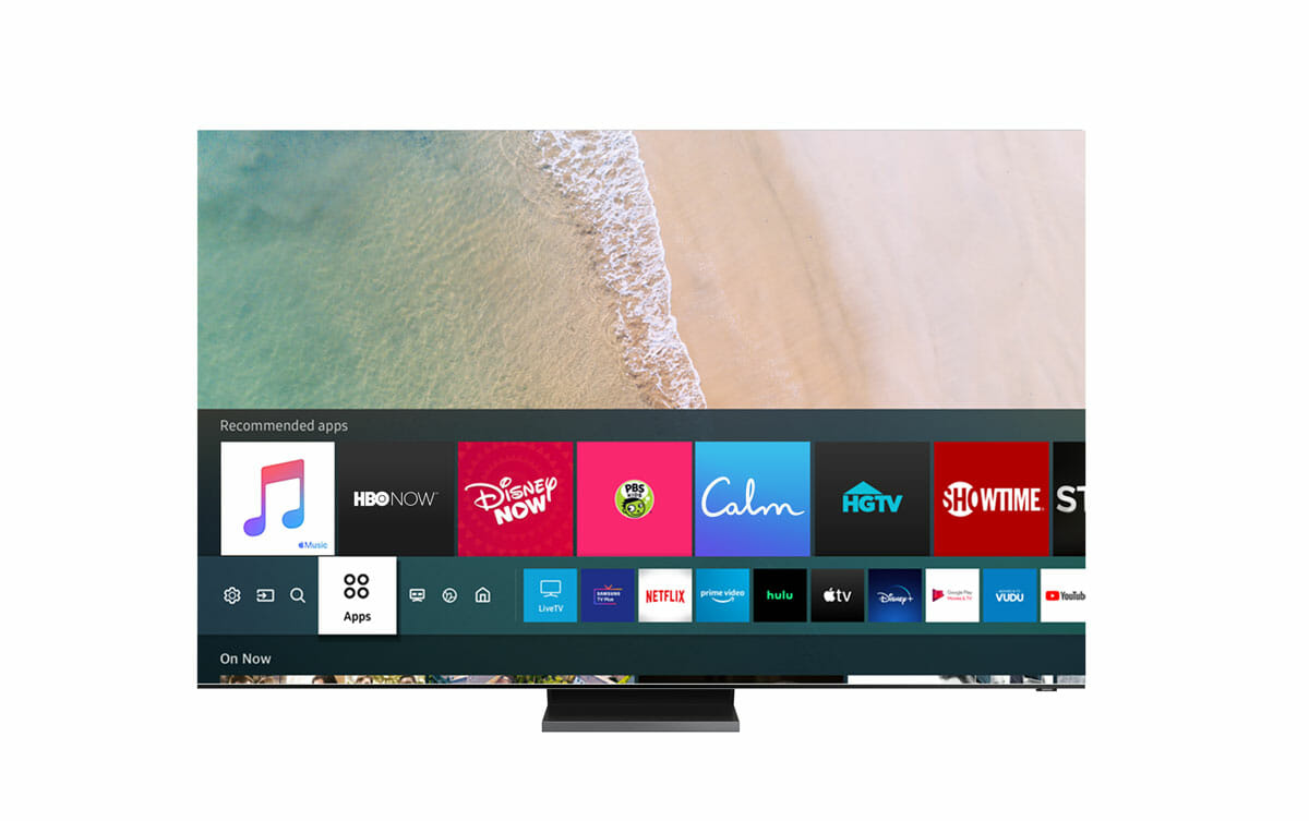 Samsung Smart TV Apple Music UI