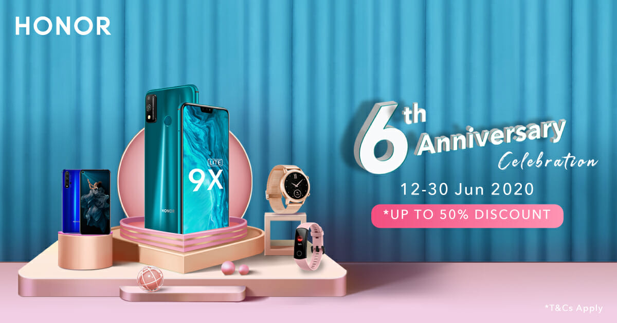 Honor 6th Anniversary Sale