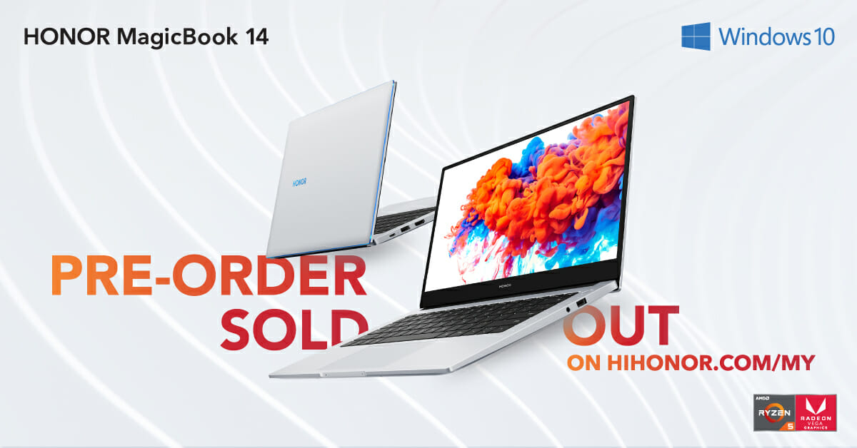 Honor MagicBook 14 sold out