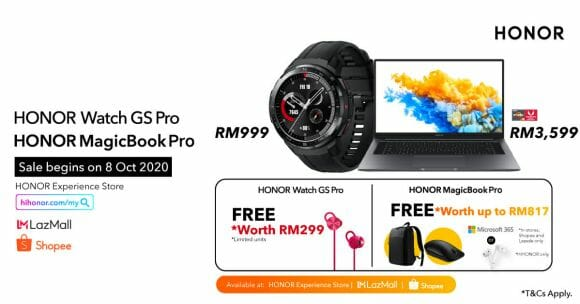 Honor MagicBook Pro and Watch GS Pro