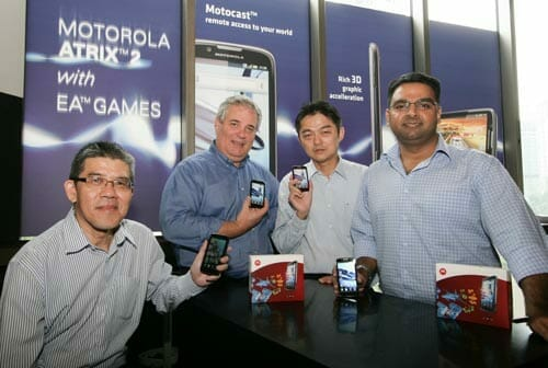 (From L-R) S.K. Ng, Chief Operating Officer, ZITRON Enterprise Malaysia Sdn Bhd; Robert Van Tilburg, Regional Director of Sales, Mobile Devices, South East Asia, Motorola Mobility; Albert Goh, Chief Executive Officer, ZITRON Enterprise Malaysia Sdn Bhd; Ankur Bhandari, Country Manager, South East Asia, Mobile Devices, Motorola Mobility.