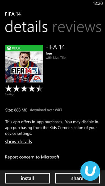FIFA 14 for WP8