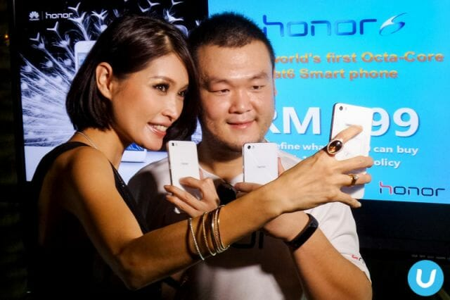 Amber Chia with the Honor 6
