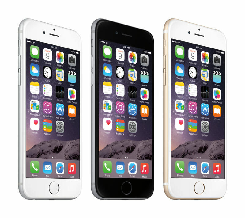 iPhone 6 in White, space gray, gold