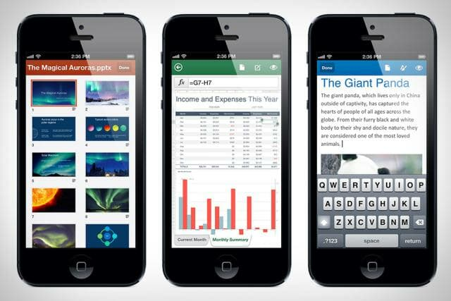 Microsoft Office Mobile is free