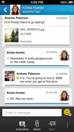 BBM for iPhone 3